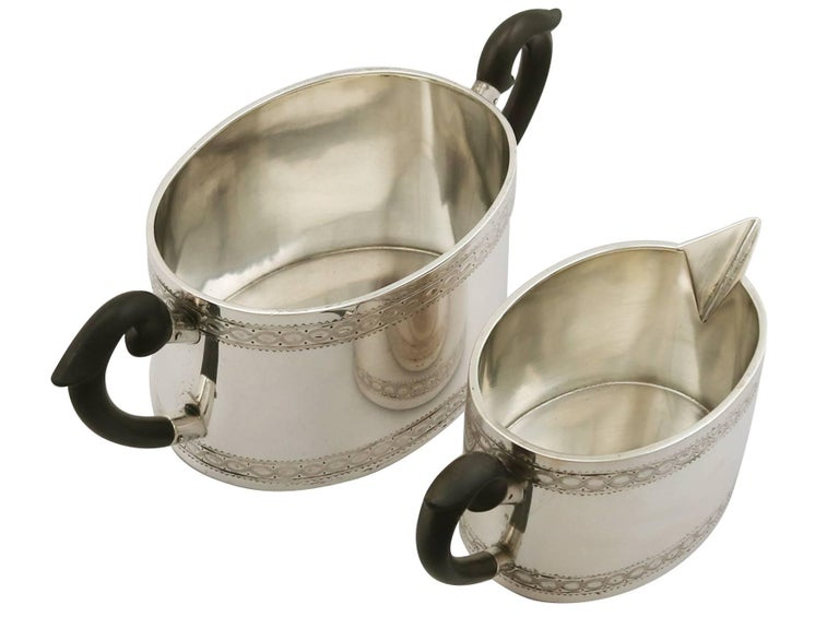Antique Continental Silver Five-Piece Tea and Coffee Service For Sale 5