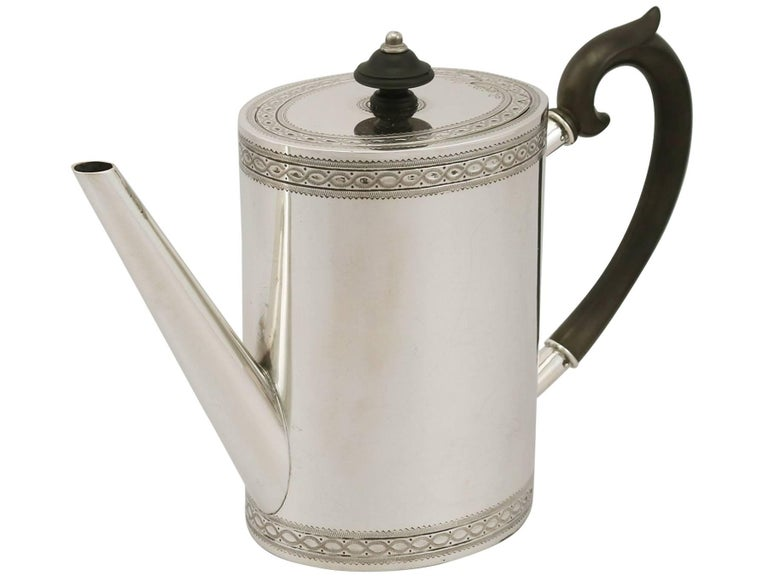 Early 20th Century 20th Century Antique Continental Silver Five-Piece Tea and Coffee Service For Sale