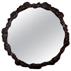 Antique Continental Silver Plated Mirrored Plateau