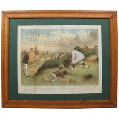 Antique Copes Tobacco Golf Print, A Lost Ball by George Pipeshank