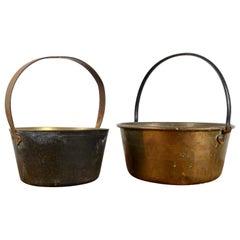 Antique Copper Jam Pots, 20th Century