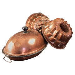 Antique Copper Jelly Moulds, 20th Century