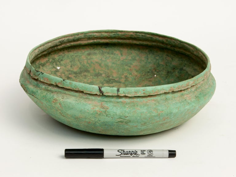 Other Antique Copper or Bronze Offering Bowl Eastern Thailand, 19th Century or Earlier For Sale