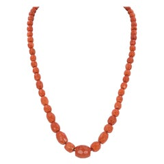 Antique Coral and 18 Karat Gold Necklace, Early 1900
