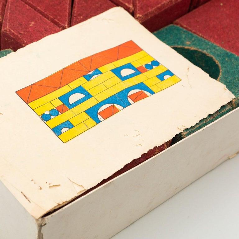 Antique Cork Construction Set Game, circa 1930 For Sale 5