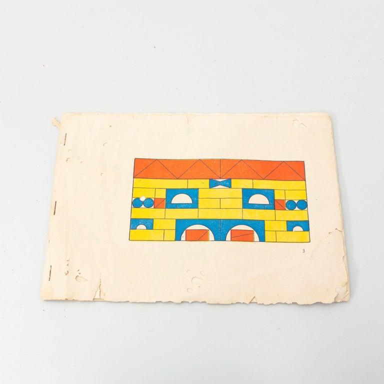 Antique Cork Construction Set Game, circa 1930 For Sale 6