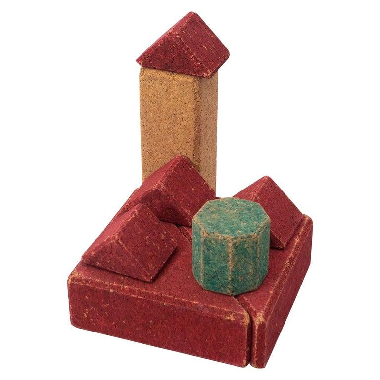 Antique Cork Construction Set Game, circa 1930 For Sale