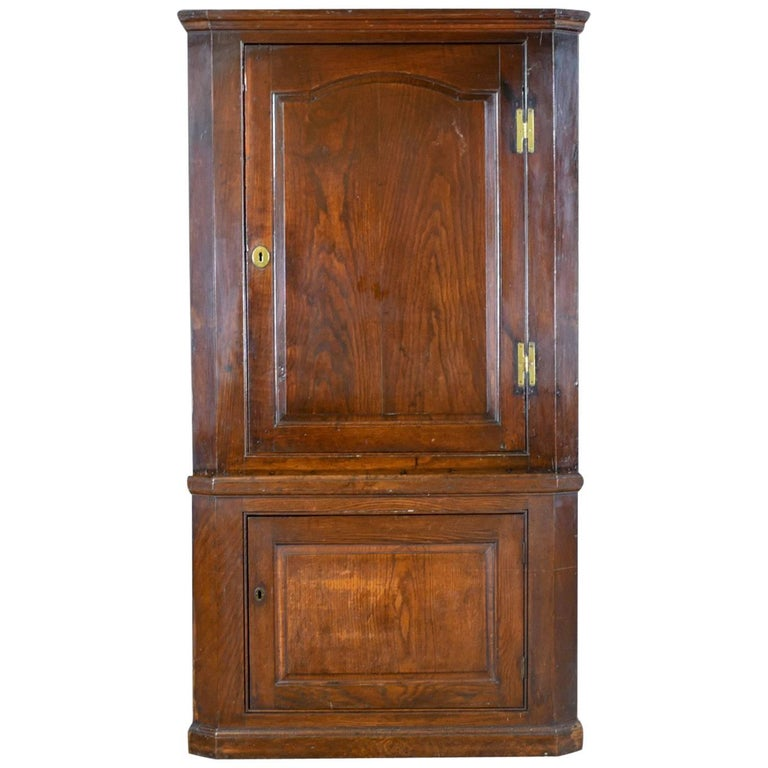 Antique Corner Cabinet, English, Oak, Georgian, Floor Standing Cupboard For  Sale - Antique Corner Cabinet, English, Oak, Georgian, Floor Standing