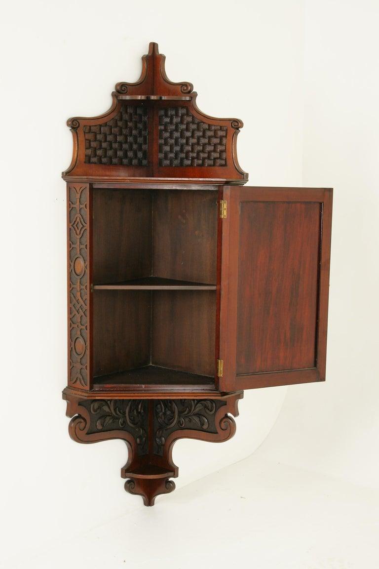 Antique Corner Cabinet, Entryway Furniture, Carved Cabinet ...