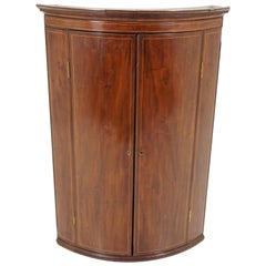Antique Corner Cabinet, Georgian Mahogany Hanging Cabinet, Scotland 1830, B1946