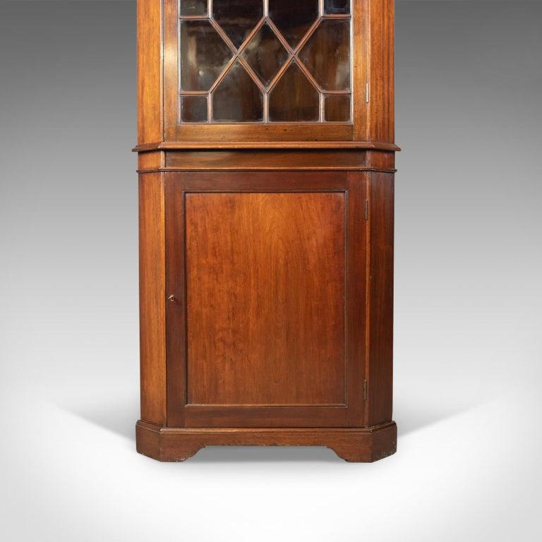 Antique Corner Cabinet, Glazed, Display, Edwardian in Georgian Taste, circa 1910 2
