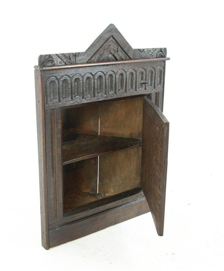 Antique Corner Cabinet Hanging Wall Victorian Entryway Furniture