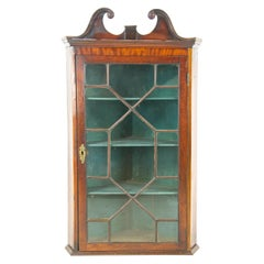 Antique Corner Cupboard, Victorian Cabinet Hanging Cabinet, Scotland 1870, B1447