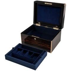 Antique Coromandel Brass Bound Jewelry Box