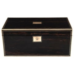 Antique Coromandel Writing Box with Secret Compartments 19th Century