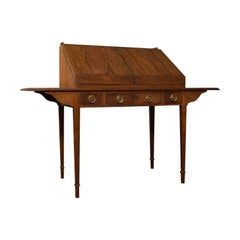 Antique Correspondence Desk, English, Library, Writing Table, Cotswold School