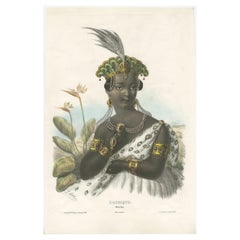 Antique Costume Print of Africa by Lemercier, circa 1840'