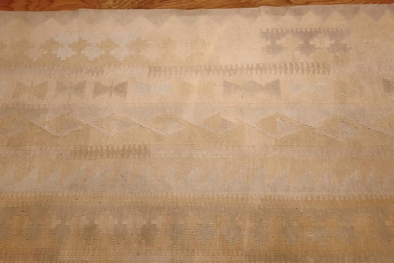 Other Antique Cotton Dhurrie Indian Rug. Size: 9 ft 4 in x 16 ft 9 in For Sale