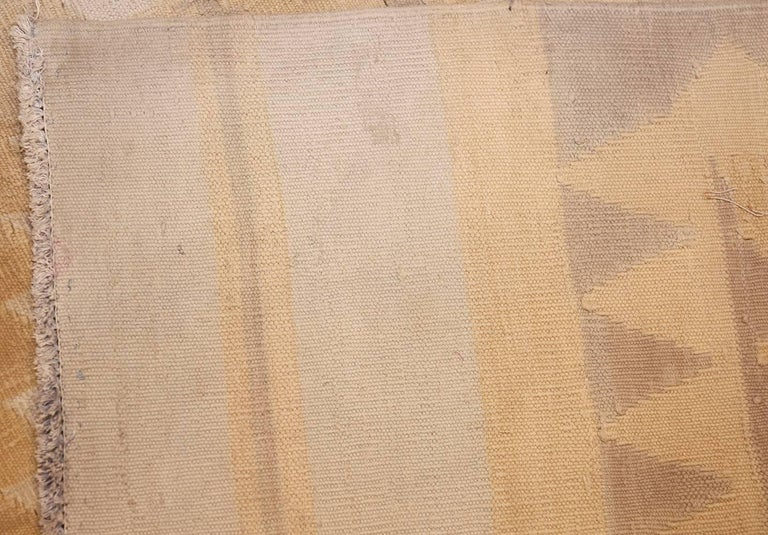 Antique Cotton Dhurrie Indian Rug. Size: 9 ft 4 in x 16 ft 9 in For Sale 1