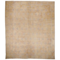 Antique Cotton Dhurrie Oversize Rug in Pastel Colors