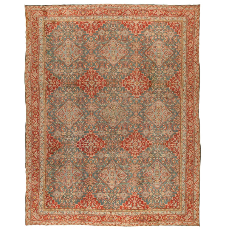 Antique Indian Agra Rug For Sale At 1stdibs: Antique Cotton Indian Agra Rug For Sale At 1stdibs