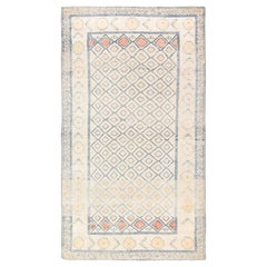 Antique Cotton Indian Agra Rug. Size: 3 ft 10 in x 6 ft 10 in (1.17 m x 2.08 m)