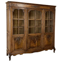 Antique Country French Bookcase, Bibliotheque