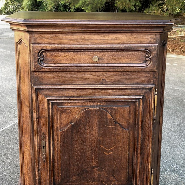 Brass Antique Country French Confiturier, Cabinet For Sale