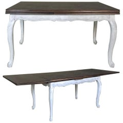 Antique Country French Draw Leaf Painted/Stained Dining Table