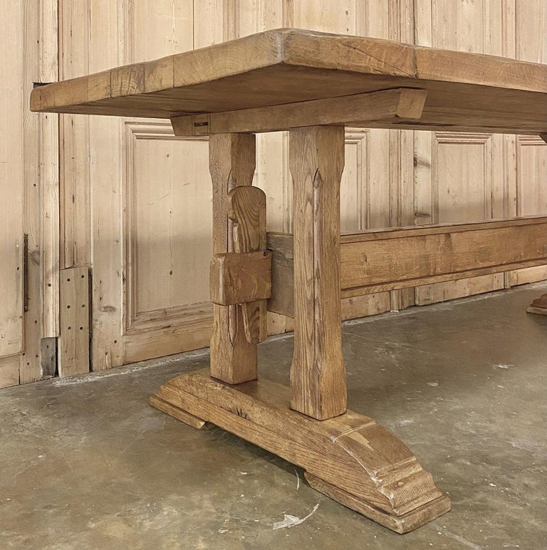Antique Country French Farm Table, Trestle Table For Sale 3