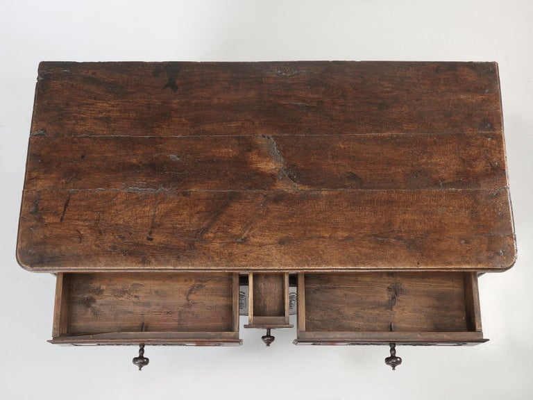 Antique Country French Louis XV Fruit Wood Two-Door Buffet, circa 1700s In Good Condition For Sale In Chicago, IL