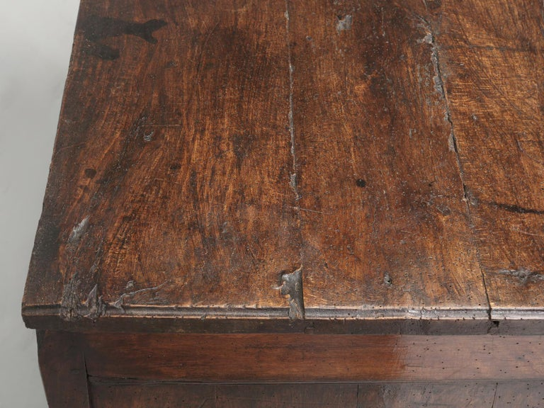Fruitwood Antique Country French Louis XV Fruit Wood Two-Door Buffet, circa 1700s For Sale