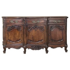 Antique Country French Louis XV Step-Front Buffet