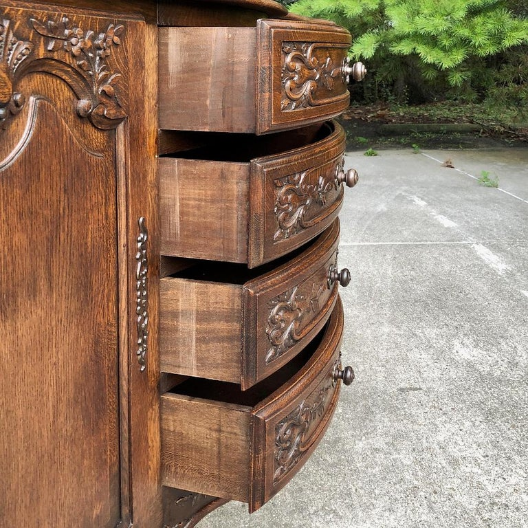 Antique Country French Provincial Buffet For Sale 5