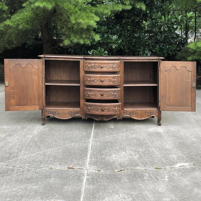 Steel Antique Country French Provincial Buffet For Sale