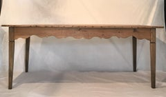Antique Country French Scalloped Apron Farm Table from Provence