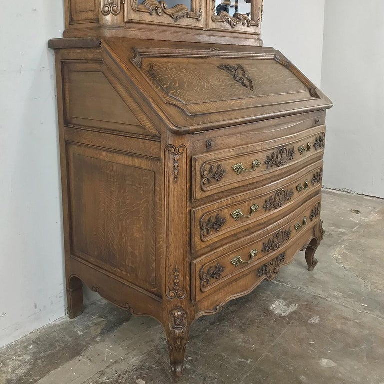 Antique Country French Secretary, Bookcase For Sale 7