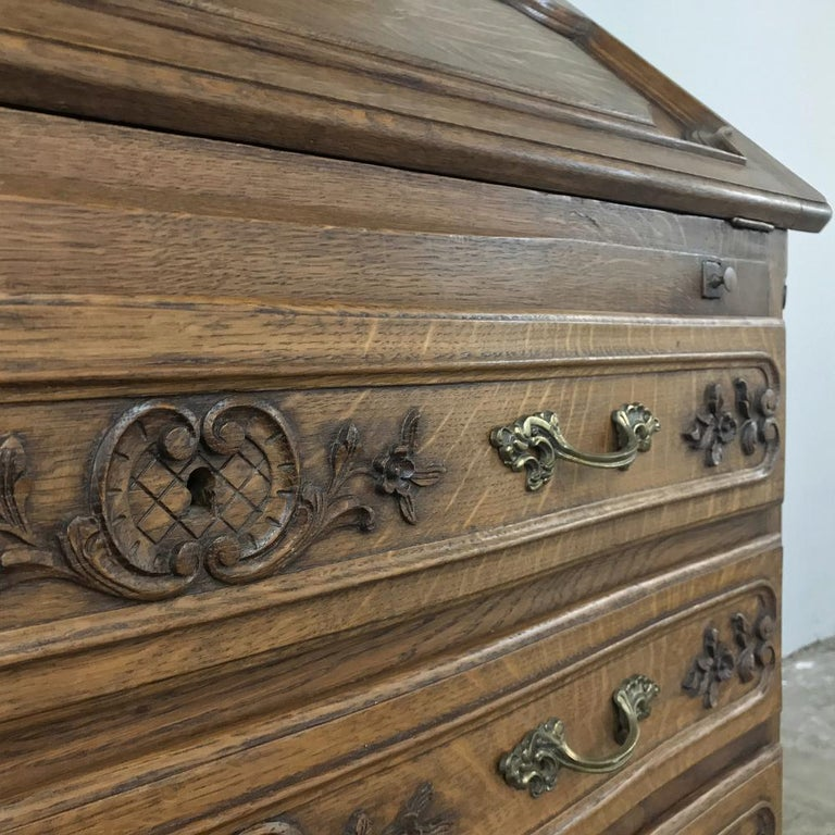 Antique Country French Secretary, Bookcase For Sale 8