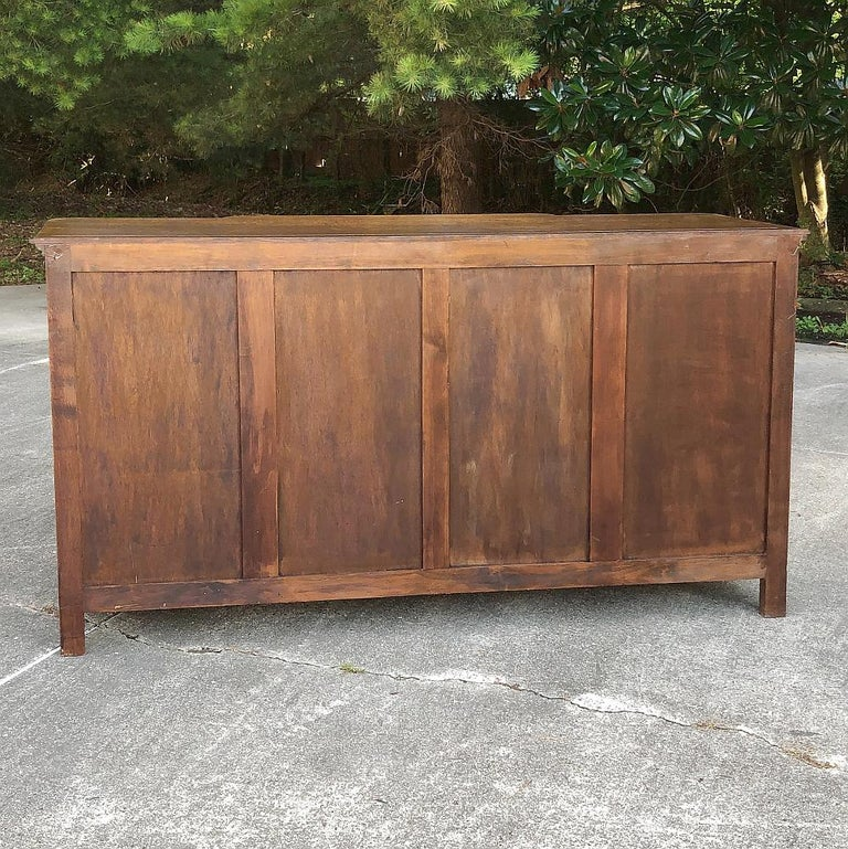 Antique Country French Step-Front Buffet 5
