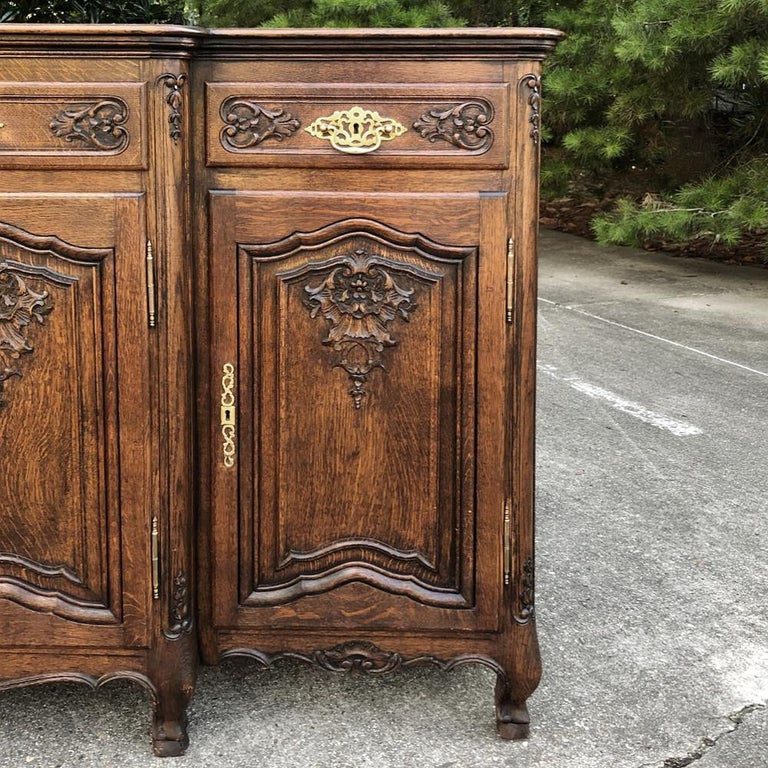 20th Century Antique Country French Step-Front Buffet