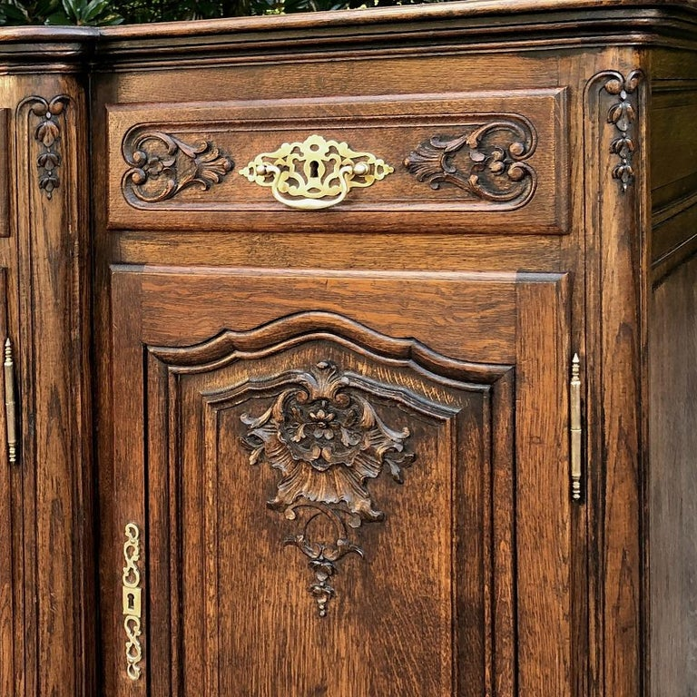 Antique Country French Step-Front Buffet 2