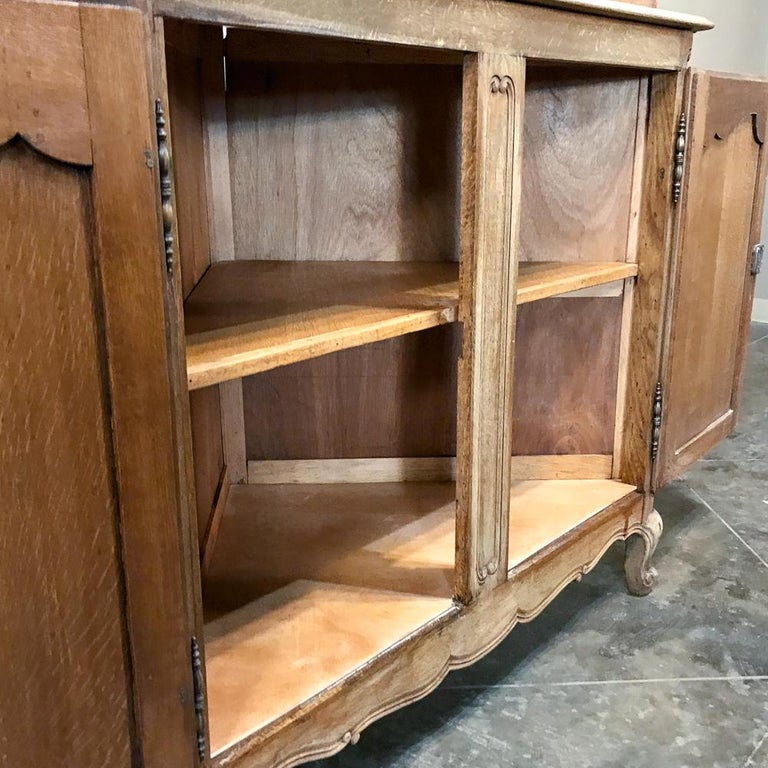20th Century Antique Country French Stripped Corner Cabinet For Sale