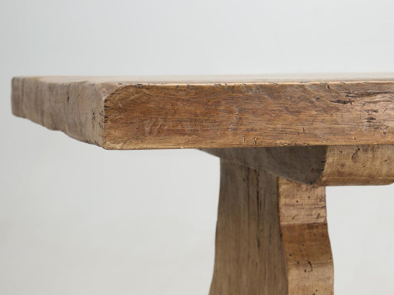 Antique Country French Trestle Dining or Kitchen Table, Completely Restored  For Sale 2