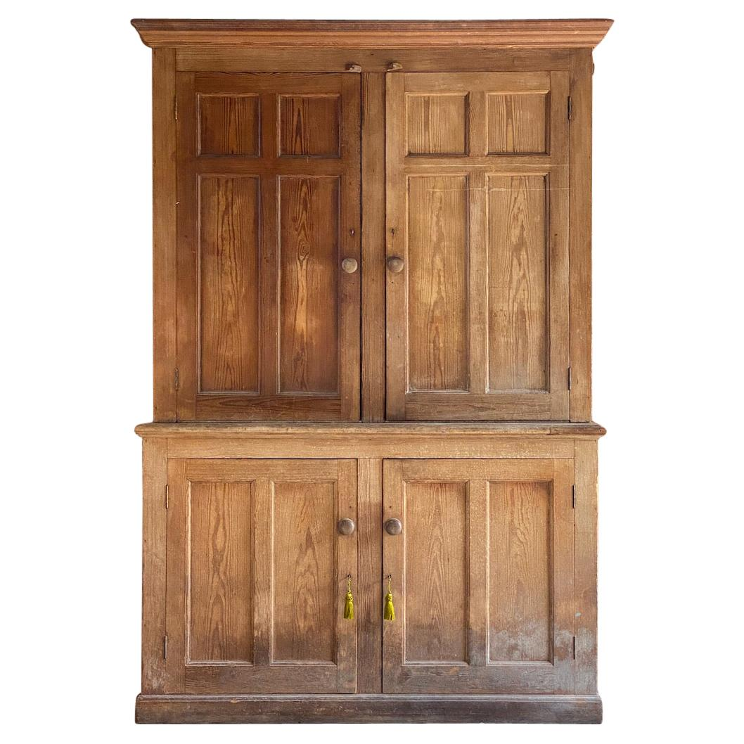 Antique Country House Pine Housekeepers Cupboard 19th Century Victorian 1890
