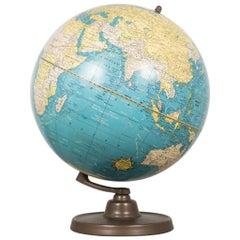 Antique Cram's Terrestrial Globe, circa Pre 1948