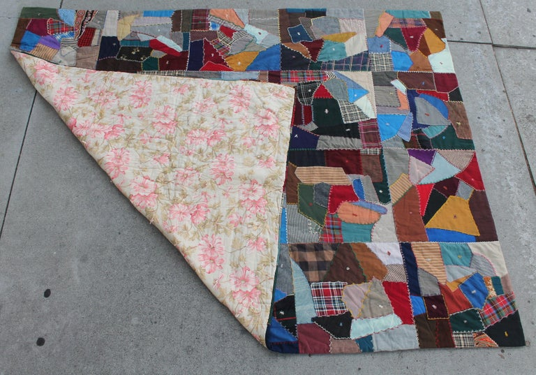 Country Antique Crazy Quilt For Sale