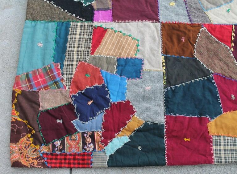 American Antique Crazy Quilt For Sale