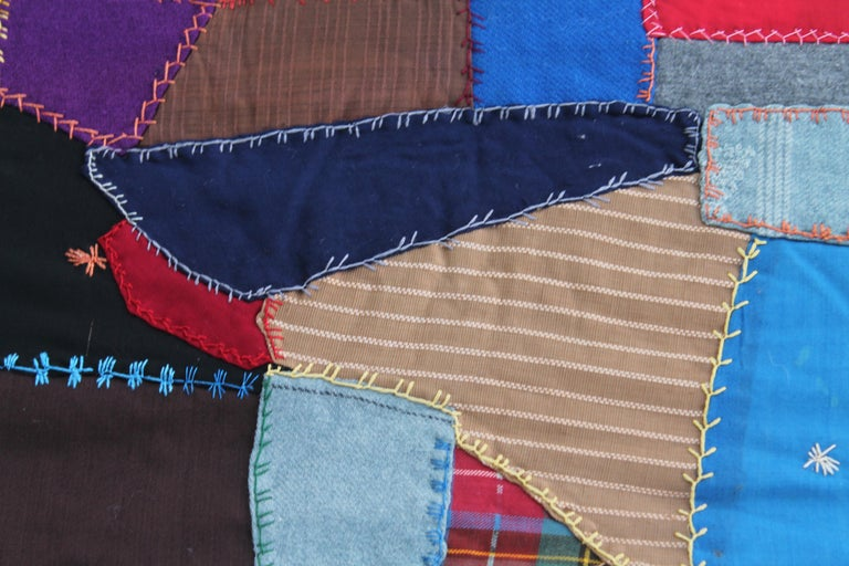 Antique Crazy Quilt In Good Condition For Sale In Los Angeles, CA