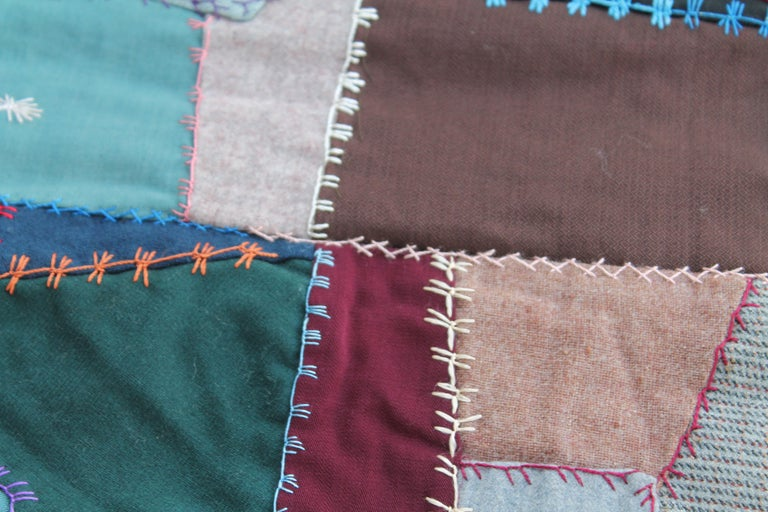 20th Century Antique Crazy Quilt For Sale