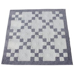 Antique Crib Quilt, Five Patch Pattern